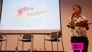 Aldana Menéndez, explicando proyecto SEXus y estrenando Flow
